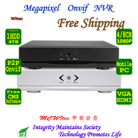 Small NVR For ONVIF IP Camera 1080P 960P 720P Support Max 4TB HDD Motion Alarm Remote