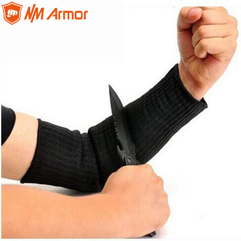 NMArmor 1 Pair New Working Protective Gloves Cut-resistant Anti Abrasion Stainless Steel Wire Safety Gloves Cut Resistant Sleeve