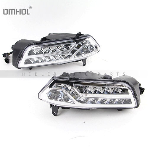 Car Styling For Volkswagen VW Polo 14-16' LED DRL Daytime Running Light Daylight Fog Lights wljh 2x canbus led 20w 1156 ba15s p21w s25 bulb 4014smd car lamp drl daytime running light for volkswagen vw t5 t6 transporter