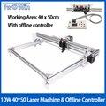 4050 лазерная машина для рабочего стола DIY Фиолетовый лазерный гравировальный станок изображение CNC принтер рабочая зона 40 см x 50 см + Автономн...