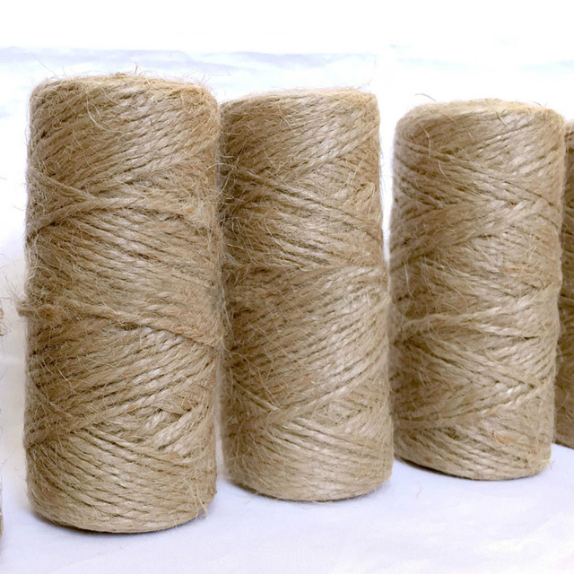 carrete de cuerda de camo marrn natural de yute arpillera shabby estilo rstico cadena hilo madeja - Cuerda De Caamo