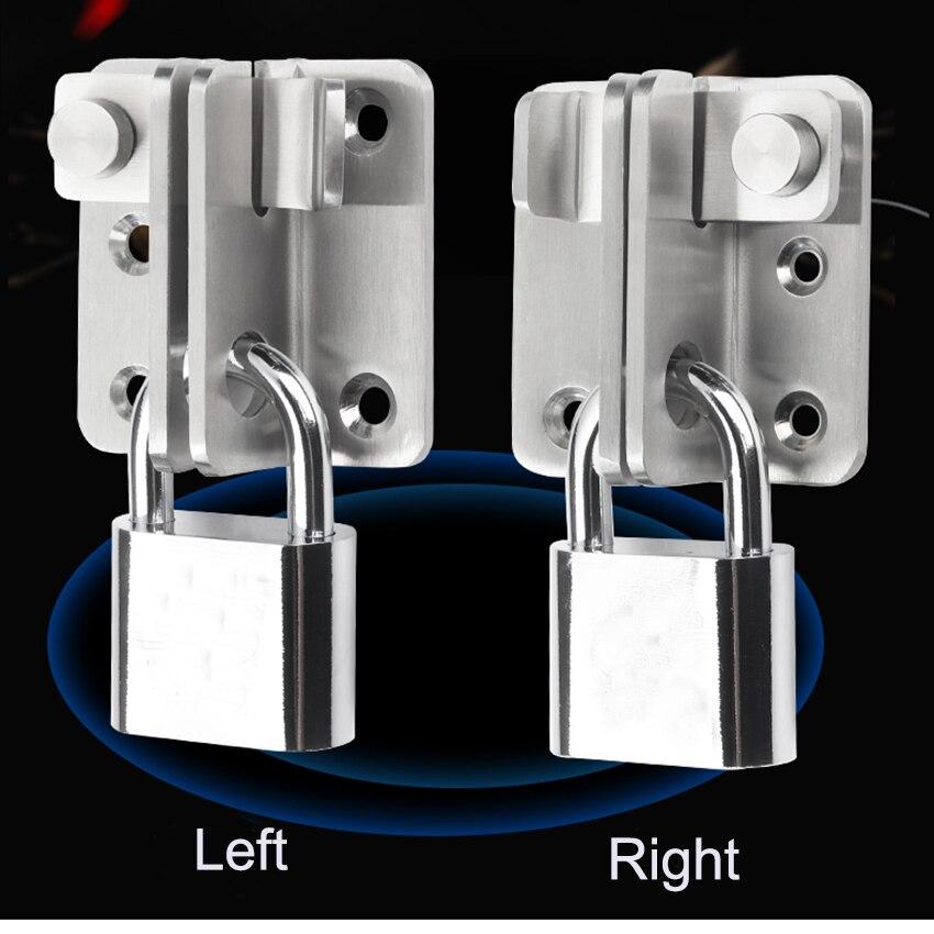 1 PC สแตนเลสสตีลความปลอดภัยไม้ประตูล็อคประตูล็อค Bolt ล็อคซ้ายและขวาความปลอดภัยเปิดประตูอุปกร...