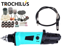 Trochilus Electric Tools 380W Mini Grinder Variable Speed Dremel Mini Drill Rotary Electric Engraver Tool Kits