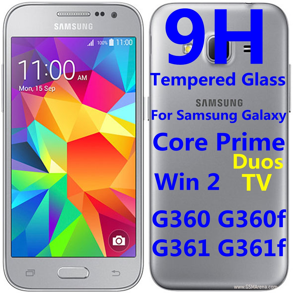 US $1 65 |9H Tempered Glass Protector For Samsung Galaxy Core Prime Win 2  Duos TV G360BT G360 G361 G360F G361F Protective Film Case 4 5
