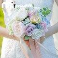 Романтический Искусственный Свадебные Букеты Невесты Высокое Качество Рука Букет Де Mariage Свадебные Цветы Свадебные Букеты 2017