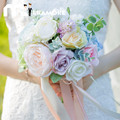 Romantic Artifical Wedding Bouquets High Quality Bridesmaid Hand Holding Bouquet De Mariage Wedding Flowers Bridal Bouquets 2017