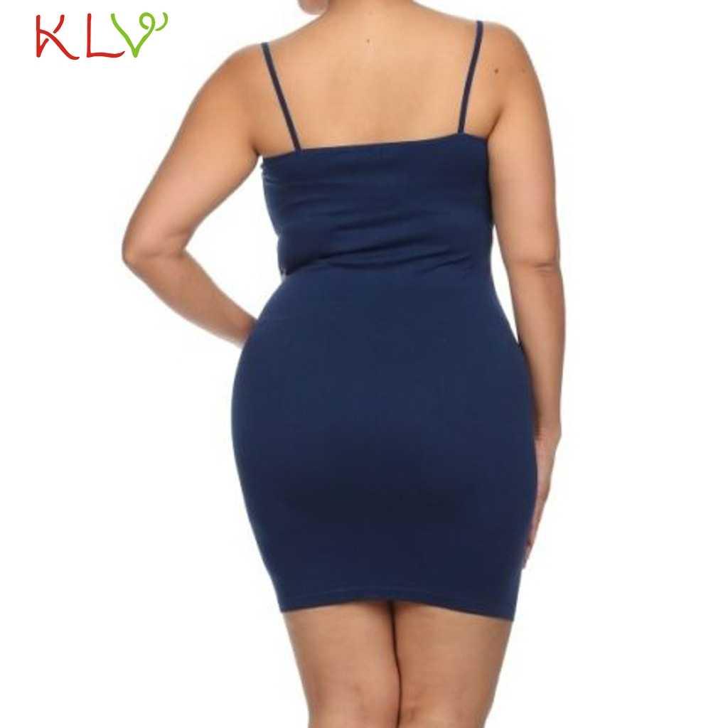 Elbise Kadınlar Bodycon Katı Zarif Seksi yaz elbisesi Rahat Bayanlar Parti gece elbisesi 2019 Artı Boyutu 5XL Vestidos Robe Femme 19A15