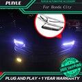 9600Lm PUIYUE Car styling Freeshipping Para 2011-2013 Honda City Car Angel Eyes Faros Ceja del LED Luz Corriente Diurna