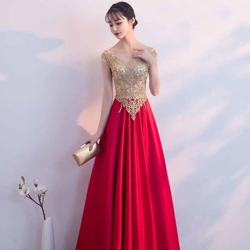 8dd77984e Doparty 2019 v cuello sexy de encaje elegante largo plus tamaño vestido de  noche las mujeres