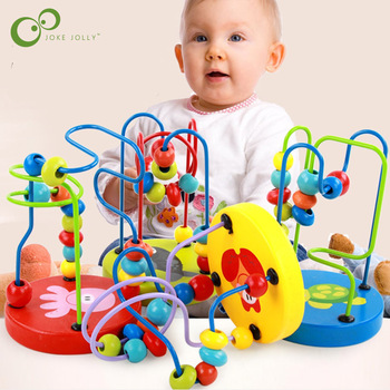 Children Kids Baby Colorful Wooden Mini Around Beads Educational Toy Kids Toys Game Toys GYH