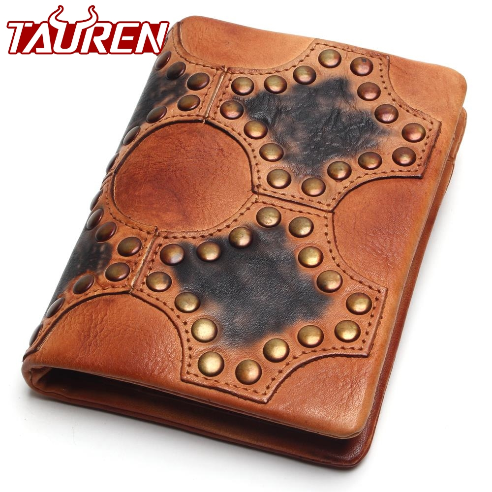 TAUREN 2018 Men Personality Vintage Wallet Genuine Leather Anchors High Quality Retro Hasp Coin Purse Cowhide Women Coin Purses