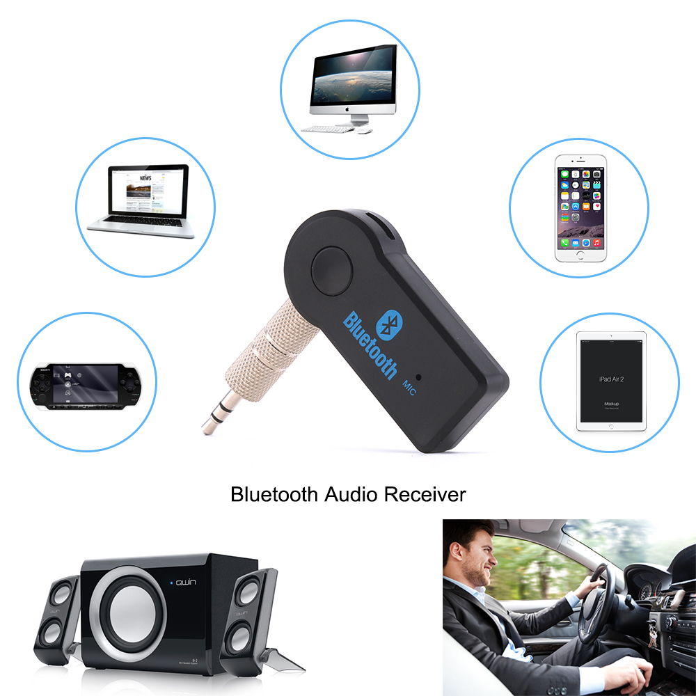 3.5MM Jack Bluetooth AUX Audio Music Receiver Car Kit Wireless Speaker Headphone Adapter Hands Free For Xiaomi iPhone duszake wireless bluetooth receiver 3 5mm jack audio bluetooth aux adapter music receiver car cable free for speaker headphone