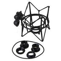 Yibuy Black Metal Large Size Cylinder Spider ShockMount Holder For Newman U87