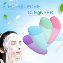 лучшая цена 1PC NEW Beauty Skin Care Waterproof Soft Silicone Useful Face Washing Electric Facial Brush Vibrate Cleanser Massage Tools