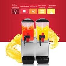 KN-GZJ02 двухцилиндровый диспенсер для холодных напитков, машина для холодных и горячих напитков, машина для слякоти, диспенсер для сока