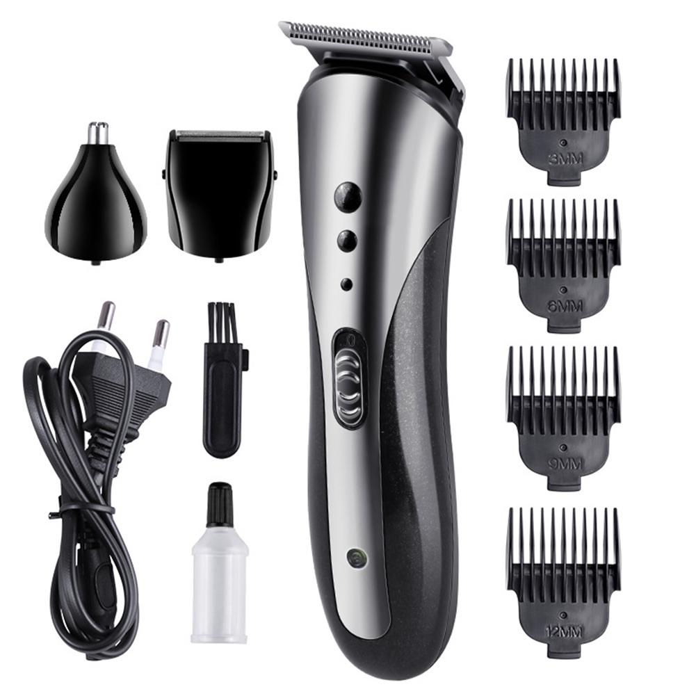 5 In 1 Hair Trimmer Rechargeable Electric Shaver Professional Digital Nose Hair Clipper Ear Trimmer Hair Cutting Machine Cutter
