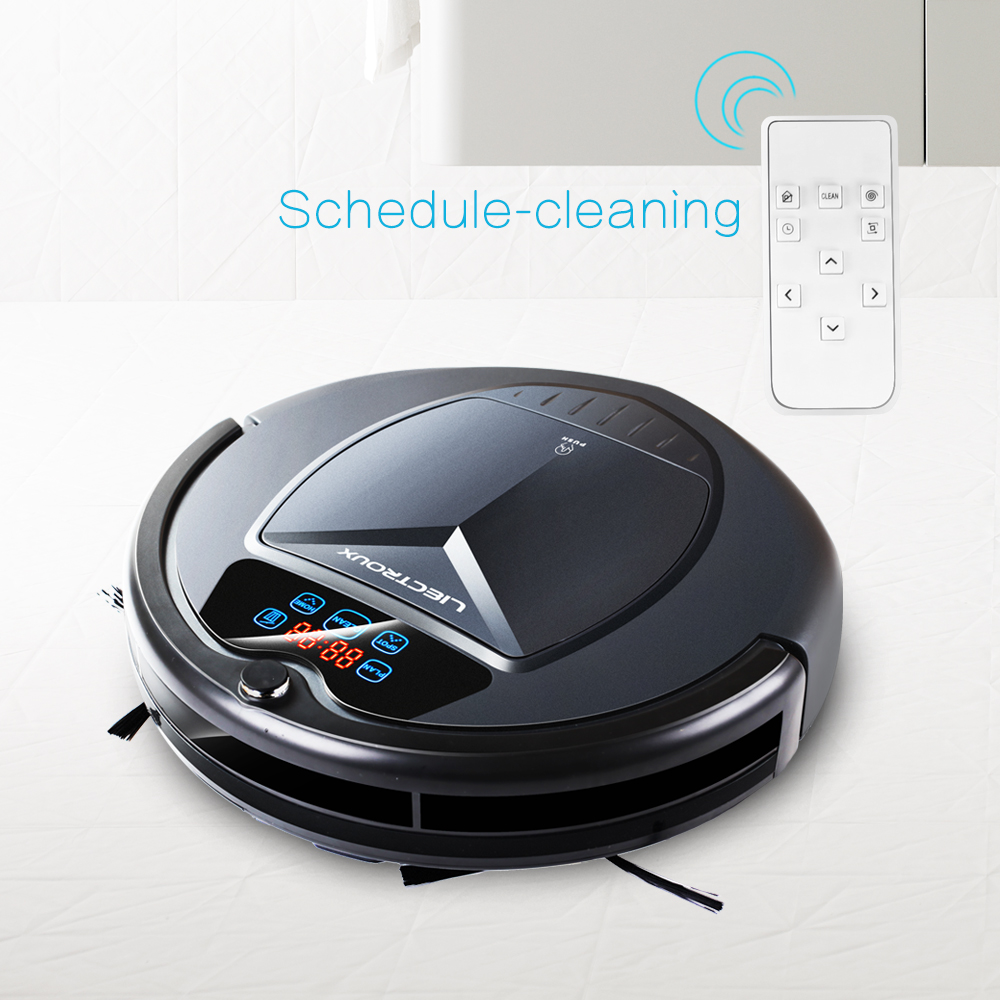 Used Liectroux B3000 Vacuum Cleaning Robot With Led Touch Screen Good Suction Power Designed For Pet Hair And Hard Floor Cleaning Appliances