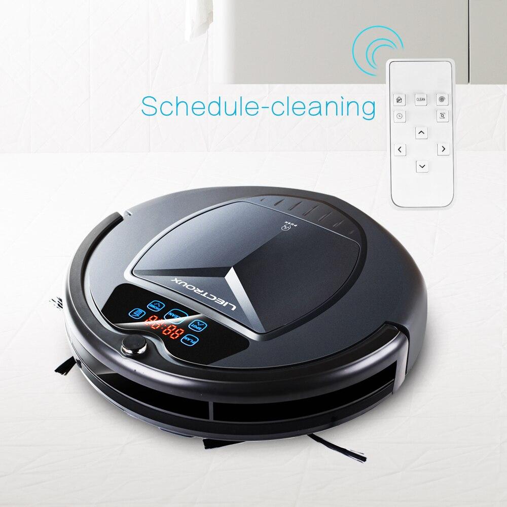 Verwendet LIECTROUX B3000 Vakuum Reinigung Roboter mit LED Touchscreen Gute Saug Power Entwickelt für Pet Haar und Harten Boden