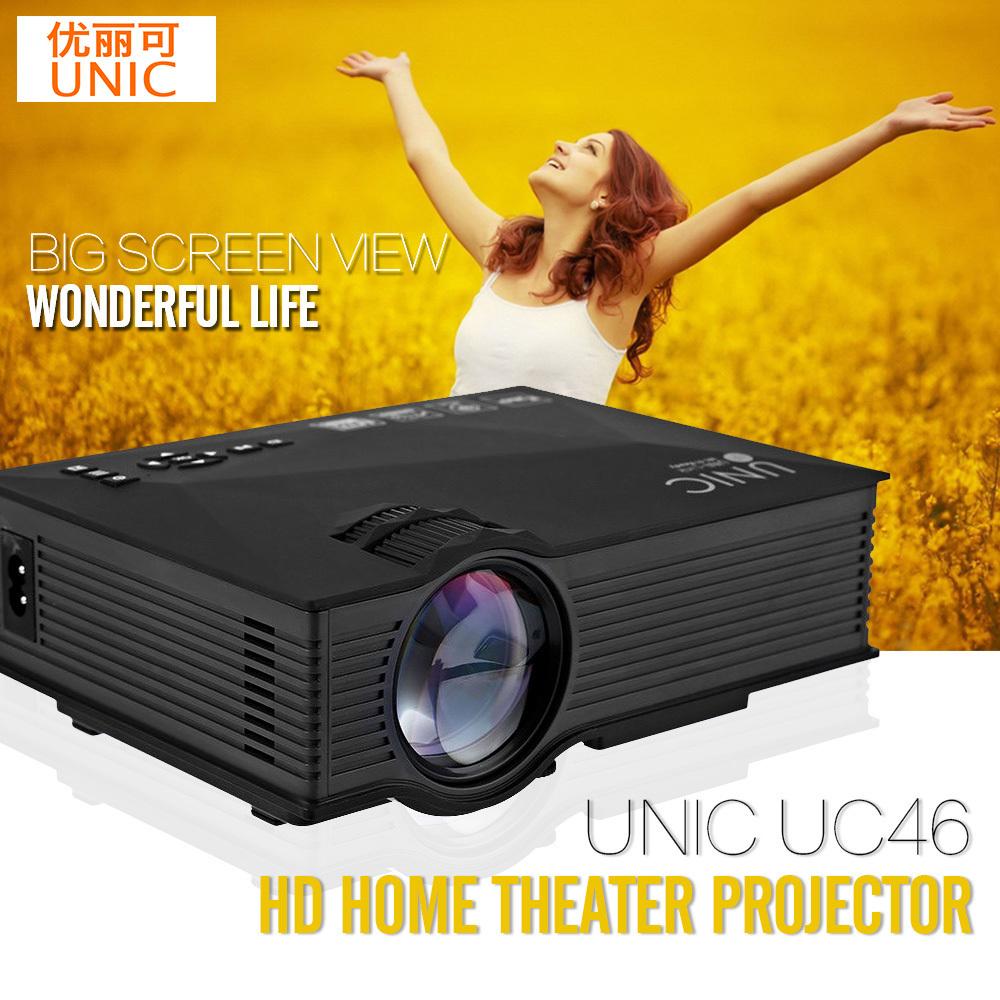 Prix pour Unic uc46 sans fil wifi mini portable projecteur 1200 lumen plein LED Vidéo Home Cinéma Projecteurs D'affaires HDMI Beamer pk X7 UC40