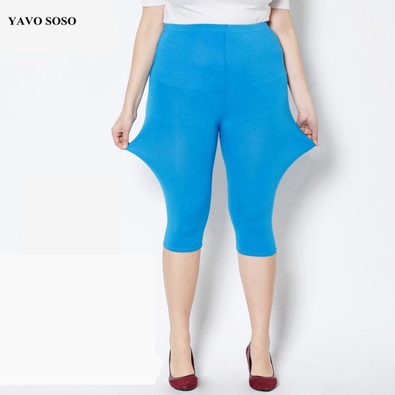 YAVO SOSO  Women Leggings Summer Style Modal Fertilizer Plus Size 7XL Big Size Candy Color 11 Colors  Women's Pants