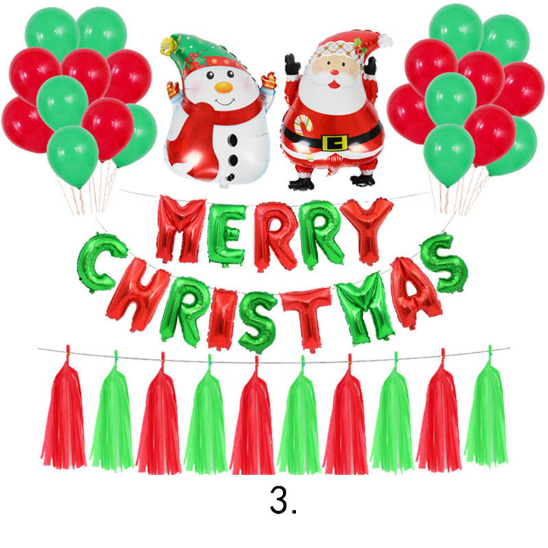 Merry Christmas Aluminum Foil Balloons Metal Balloon party decorations globos air baloes inflatable Helium