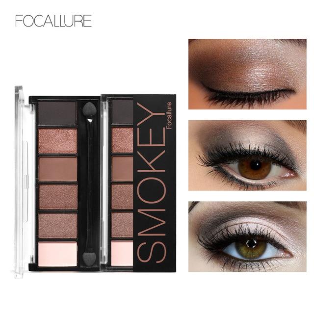 FOCALLURE новый Pro 6 цветов Тени для век макияж набор водостойкая смазка доказательство Тени Косметическая пудра палитры для женщин