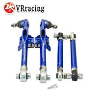 VR RACING Racing S14 Adj Front Lower Control Arm Blue Only Pair FOR Nissan VR9832