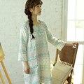100% Algodão mulheres sleepwear Meninas Vestidos de Camisola Vestido Sono Verão Início Mobiliário de Dormir Mulheres Pijamas 585-D