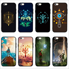 FATPERSON New design Legend Of Zelda Breath Of The Wild Sheikah Slate Cover Black Cases FOR iphone 6S 6 7 8 Plus X 10 5 5S SE
