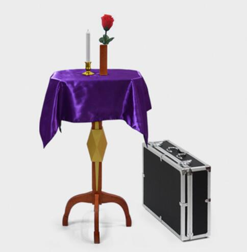 Deluxe Floating Table With Anti Gravity Vase Candlestick Magic Tricks Magician Stage Illusion Gimmick Props Floating Desk Fun fun desk