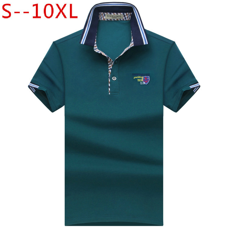 2018 Summer   Polo   Shirt for Men Regular Solid   Polo   Shirt New Homme Camisa   Polo   Shirts Cotton Short Sleeve Plus Size S-10XL
