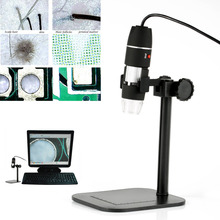Cheapest prices Facial Care Portable 500X Electronic Microscope 8 Leds USB Endoscope Video Camera Magnifier Digital Microscopes With Stand HB88