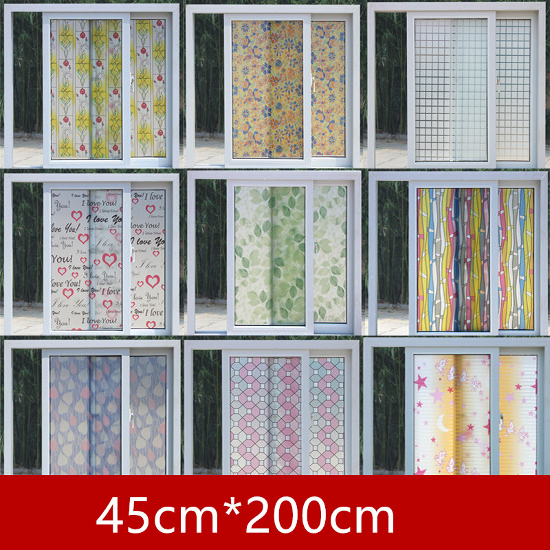 45cm*200 wide Glass Stickers window film scrub stickers translucidus - Home Decor