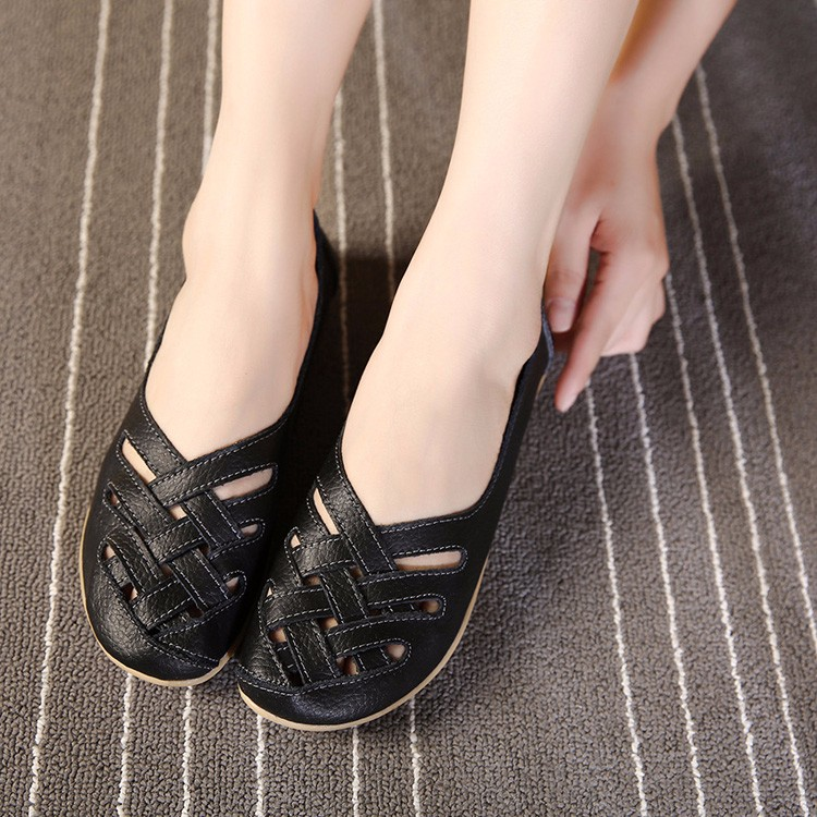 Hot Sale 2016 Spring New PU Leather Woman Flats Moccasins Comfortable Woman Shoes Cut-outs Leisure Flat Woman Casual Shoes ST181 (10)