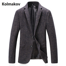 KOLMAKOV 2017 new arrival autumn and winter men's England style fashion casual suits men,casual wool blazers men full size M-3XL(China)