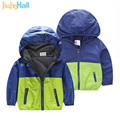 2017 Korean Version Fashion Jackets For Baby Boy Handsome Patchwork Boys Zipper Jackets Long Sleeve Hooded Blouson Garcon CMB348