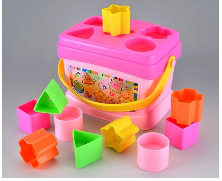 US $12 63 |Jolly baby 13 cm Plastic Assembleren Doos Speelgoed Blokken  inspireren verbeelding Creative Fun Bouwstenen Educatief Presenteert Kids  in