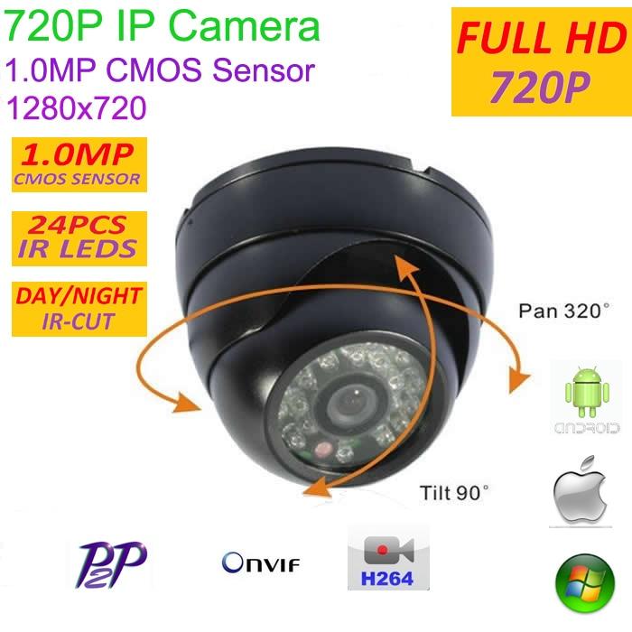 imágenes para Nuevo tipo 1280*720 P 1.0MP Mini Domo 720 P Cámara IP ONVIF H.264 P2P cámara de red de interior IR CUT Visión Nocturna Plug and Play Fácil,