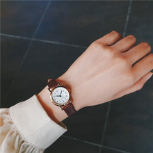Bamboo Knot Vintage Leather Women Small Watches Designer Blue Pointer Simple Num