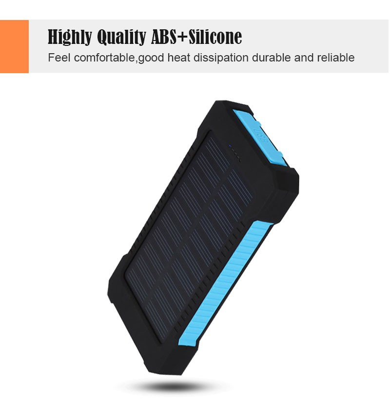 19 Solar Power Bank 20000mAh Double USB Solar charger External Battery Portable Charger Bateria Externa Pack for smart phone 2