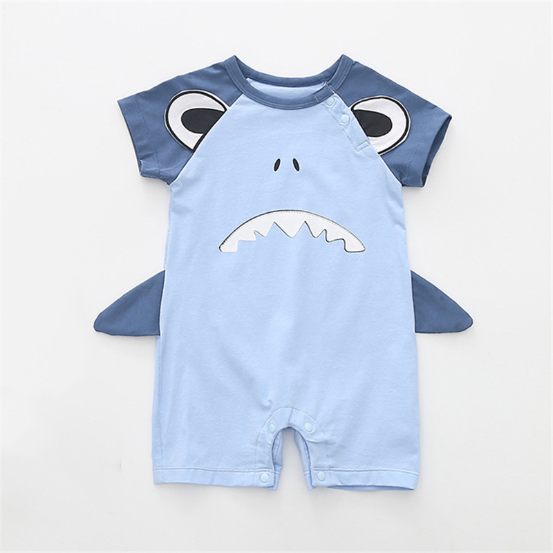 Baby clothing summer 2018 cartoon animal short sleeved Jumpsuit Romper Jumpsuit boxer climbing clothing baby baby clothes