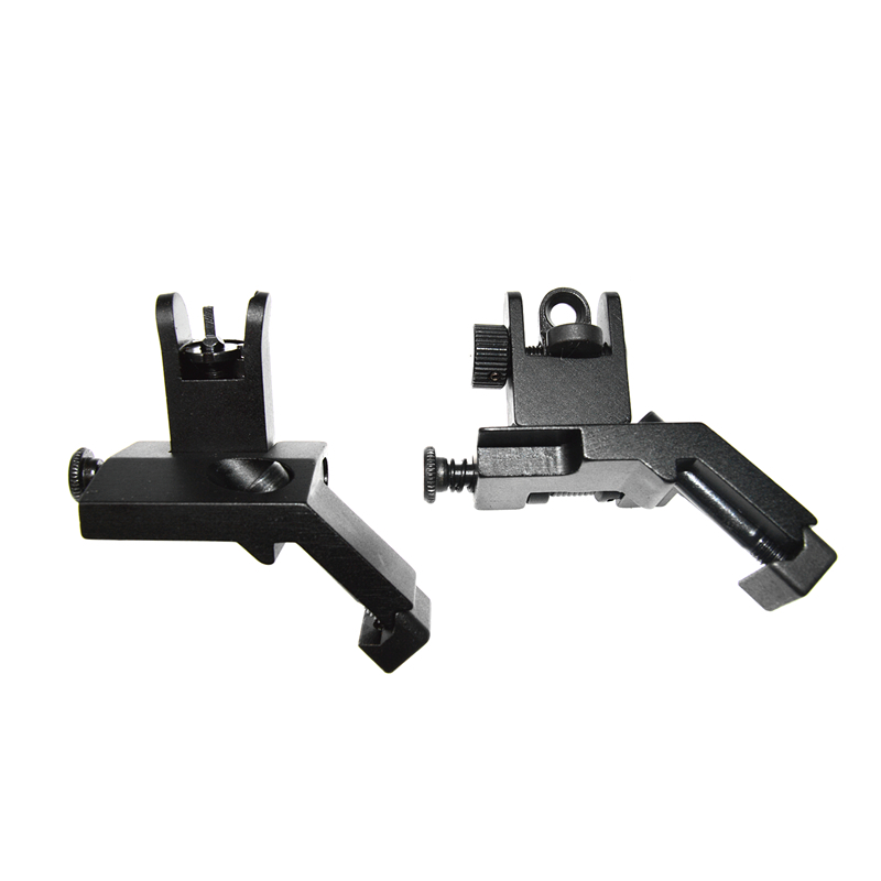 Flip Up Front/&Rear Side Iron Sight 45 Degree Set QD Rapid Transition BUIS US