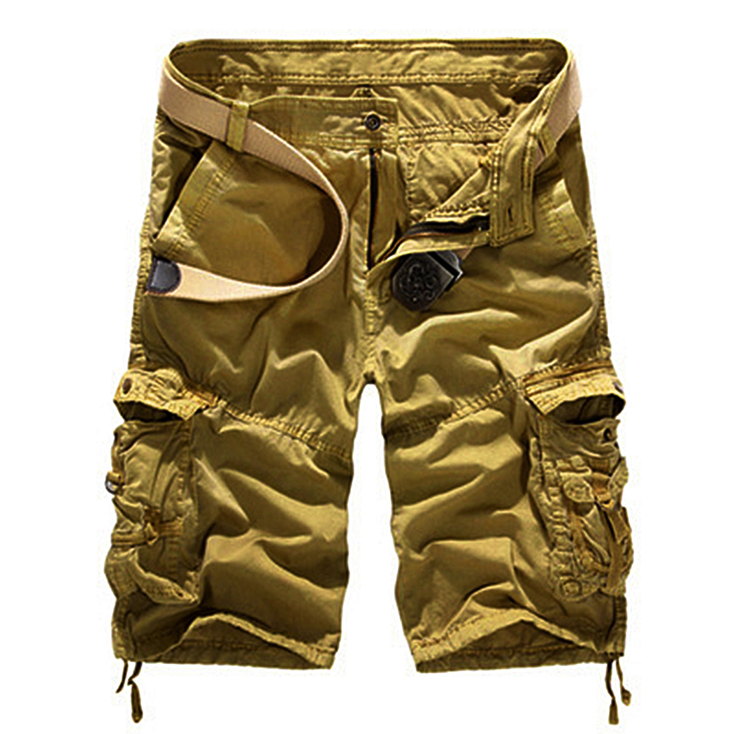 Plus Size Casual Mens Shorts Summer Multi Pocket Military Cotton Shorts Joggers Male Combat Loose Cargo Short Homme Men Clothing