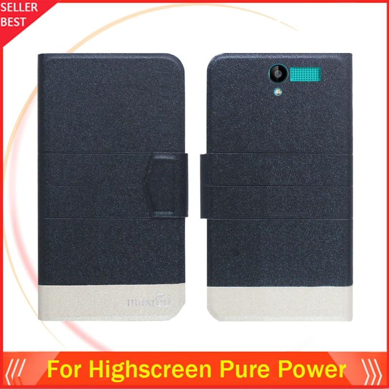 5 färger super! Highscreen Pure Power Phone Case Läder Full Flip - Reservdelar och tillbehör för mobiltelefoner - Foto 2