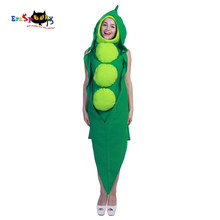 Eraspooky Funny Party Halloween Costume for Adults Green Pea Pod Costume Women Cosplay Hooded Jumpsuit Cute  sc 1 st  AliExpress.com & Buy green pea costume and get free shipping on AliExpress.com