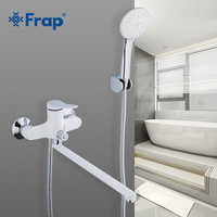 Frap New 35mm Bathroom Shower Faucets White Bathtub Faucet Mixer Tap With Hand Shower Sets wall Mounted Shower Faucet F2245