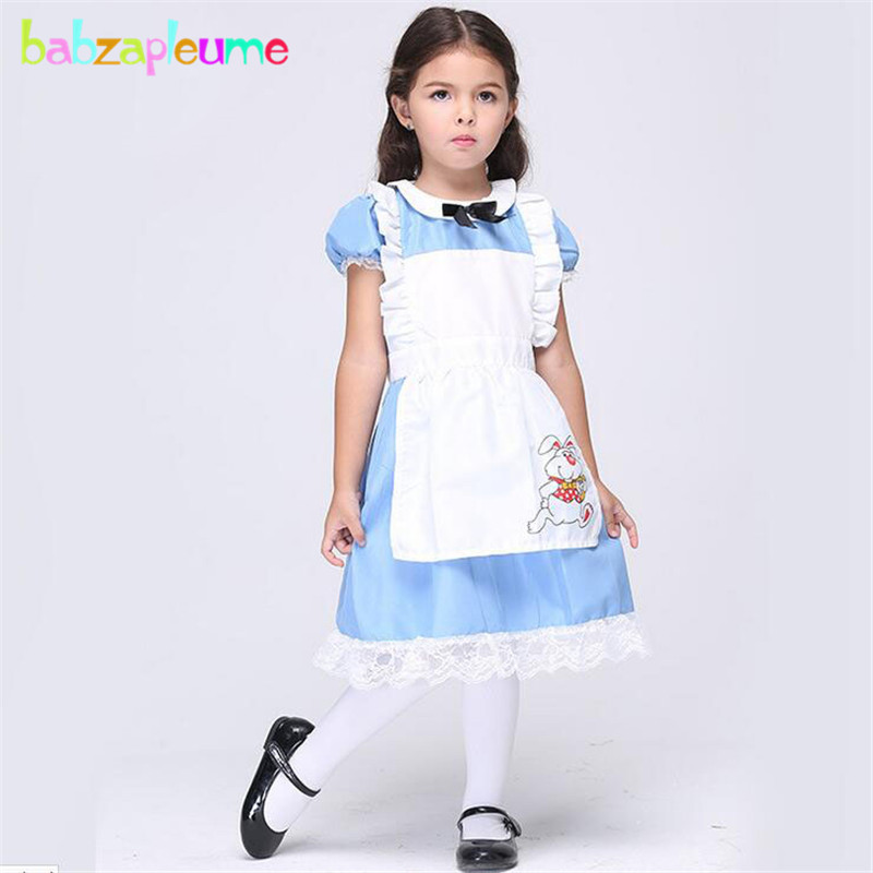 babzapleume Brand Girls Clothes Halloween Cartoon Cosplay Costume Lace Short Sleeve Kids Girl Dance Dress Toddler Outfits Y016