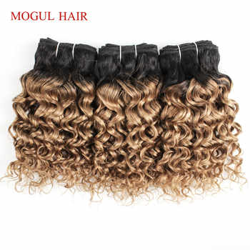MOGUL HAIR 4/6 Bundles 50g/pc T 1B 27 Dark Root Honey Blonde Ombre Brazilian Water Wave Remy Human Hair Short Bob Style - DISCOUNT ITEM  39% OFF All Category