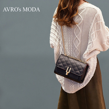 AVRO's MODA Brand PU leather shoulder bags for women 2019 luxury handbags women bags designer crossbody messenger pink chain bag brand women messenger bags luxury handbags women bags designer velvet fashion shoulder bag women pu leather handbags chain h