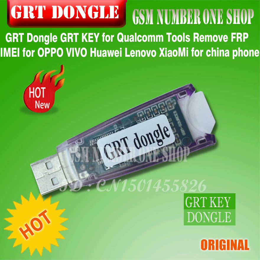 Original Newest grt key GRT Dongle Qualcom Tools Remove FRP IMEI For OPPO VIVO Huawei Lenovo XiaoMi Support ALL Qualcomm CPU
